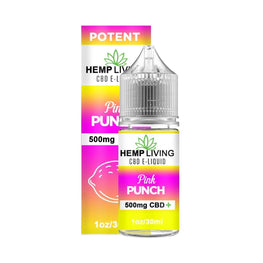 Hemp Living - CBD E-Liquid - Pink Punch - 30ML - juice - Urban Vape and CBD