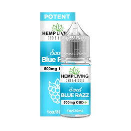 Hemp Living - CBD E-Liquid - Sweet Blue Razz - 30ML - juice - Urban Vape and CBD