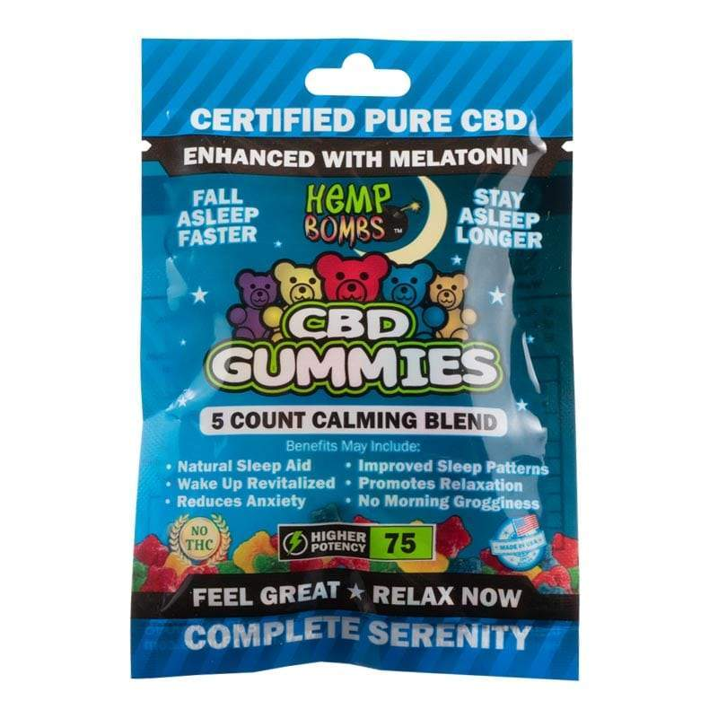 Hemp Bombs - 5 Count CBD  Sleep Gummies Bag (12 Bags per Sleeve) - juice - Urban Vape and CBD