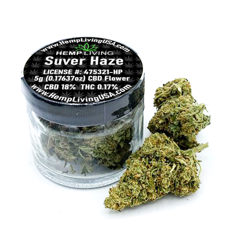 1g-5g  Jar Hemp Living Suver Haze