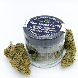 1g-5g  Jar Hemp Living  Sour Space Candy