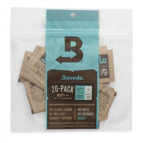 Boveda 62% 1g (1) 20 COUNT PACK