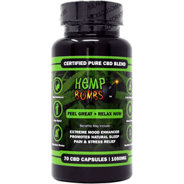 Hemp Bombs - 70 Count CBD Capsules (6 Units per Sleeve) - juice - Urban Vape and CBD