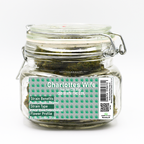 1oz Jar Hemp Living Charlottes Wife