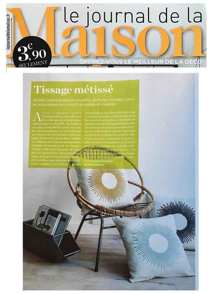Insertion 3 coussins Soleil  LE JOURNAL DE LA MAISON Septembre 2017