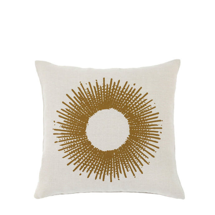 Coussin en lin made in France SOLEIL OCRE - Bianka Leone