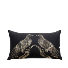 Coussin en lin made in France AIGLES NOIRS - Bianka Leone