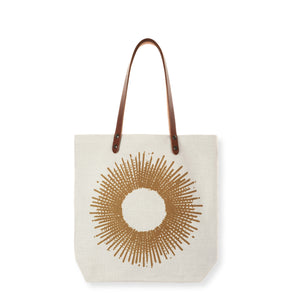 Sac tote bag en lin made in France SOLEIL OCRE - Bianka Leone