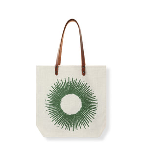 Sac tote bag en lin made in France SOLEIL MENTHE - Bianka Leone