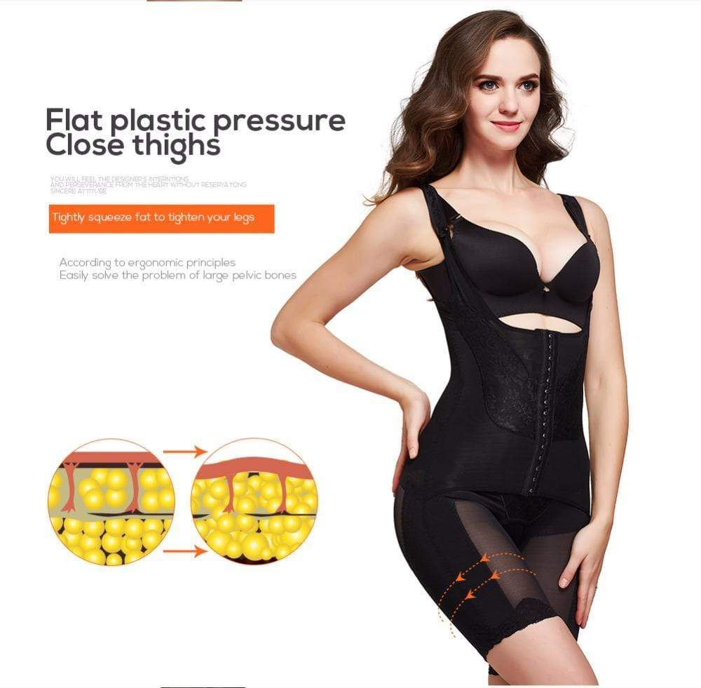 2-in-1 Waist Cincher Trainer and Shapewear Plus Size 2-14 US