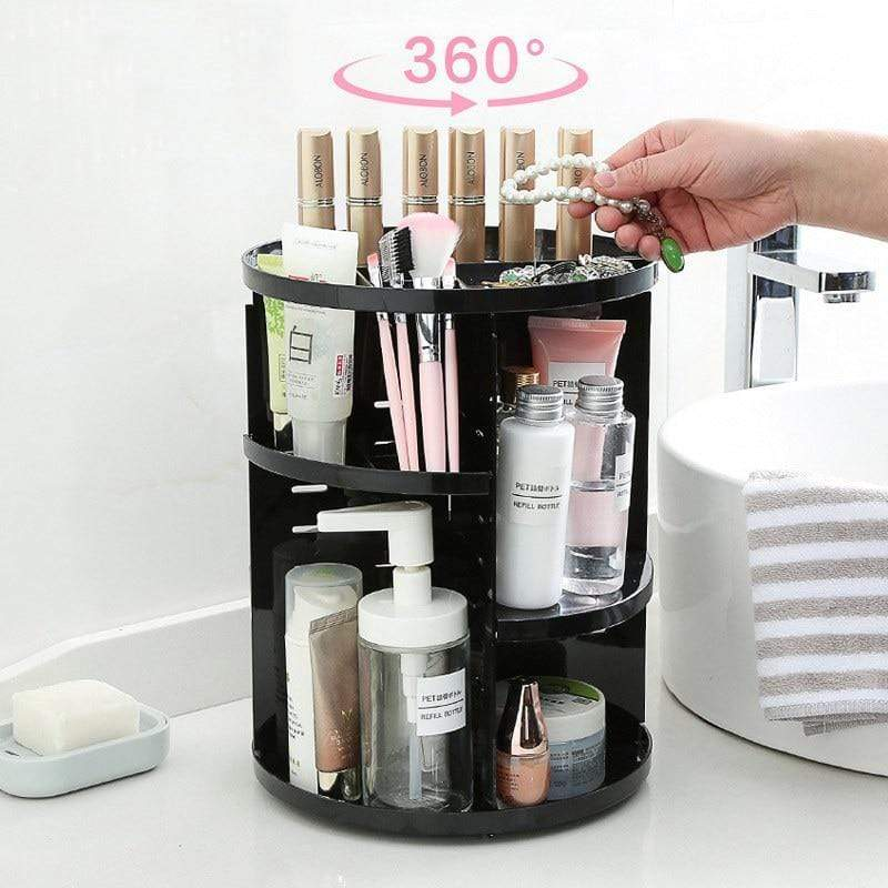 360-Degree Rotating Makeup Organizer