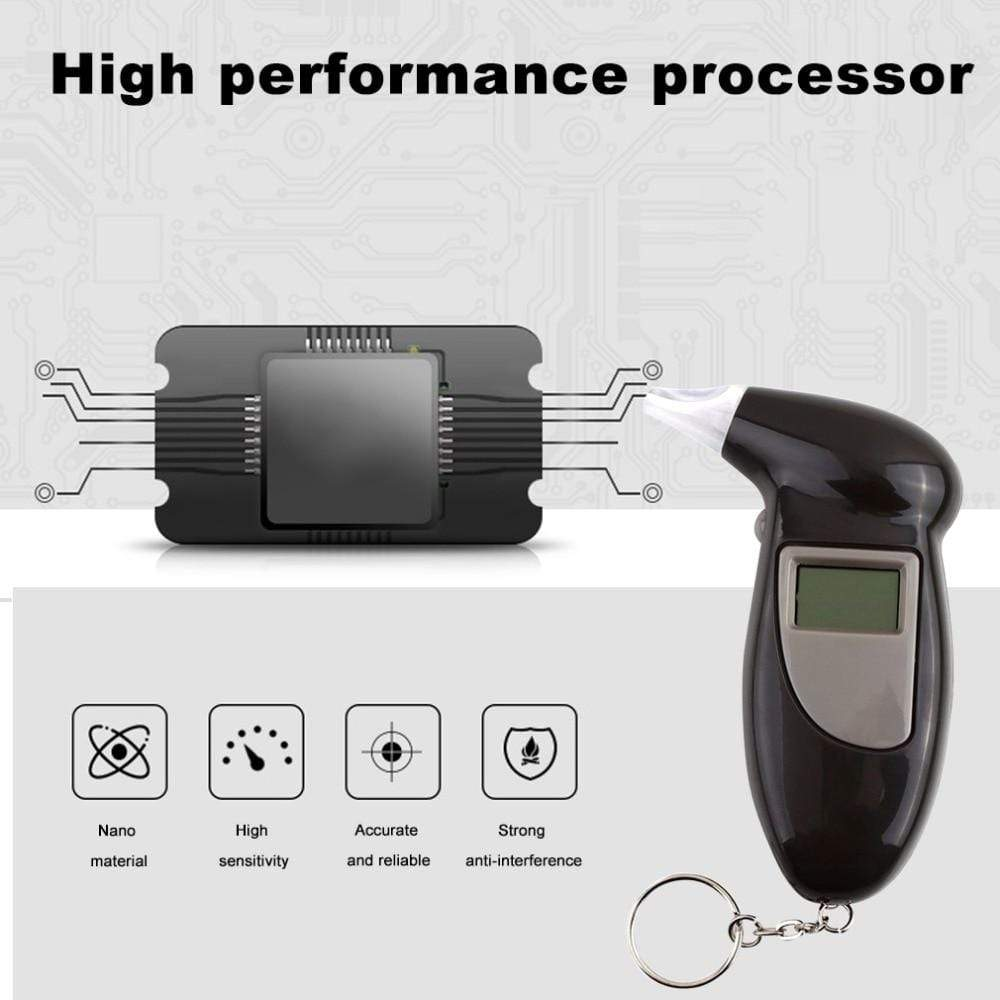 Alcohol Tester  with 11 Pcs Mouthpieces LCD Display