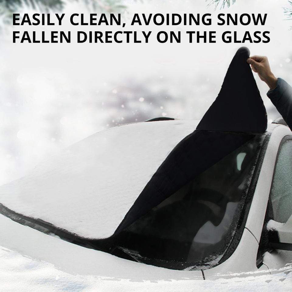 Car Windshield Snow Cover, Ice Removal / Universal Fit for Cars Trucks Vans and SUVs