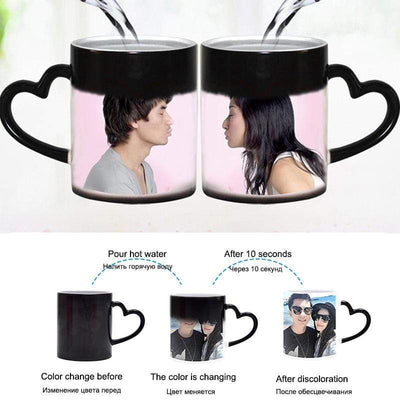 Custom Photo Magic Color Changing Mug,