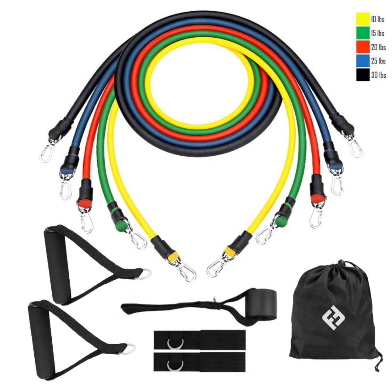 Fitsy Resibands™ 11pc Bands Fitness Set
