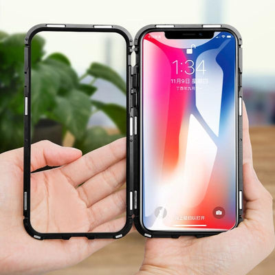 Magnetic Full Body Adsorption Mobile Phone Case for iPhone Models