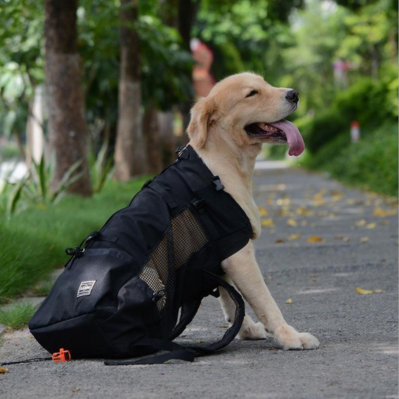 Outdoor Pet Dog Carrier -  Double Shoulder Portable Travel Breathable Backpack