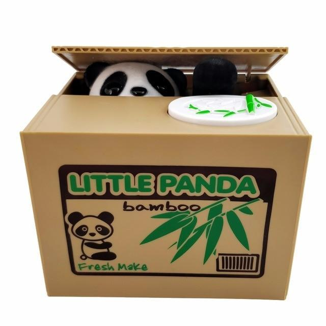 Panda Cat Thief Money boxes toy piggy bank.