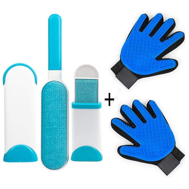 Pet Hair Remover Brush + Free Grooming Glove \ Perfect for Dogs & Cats