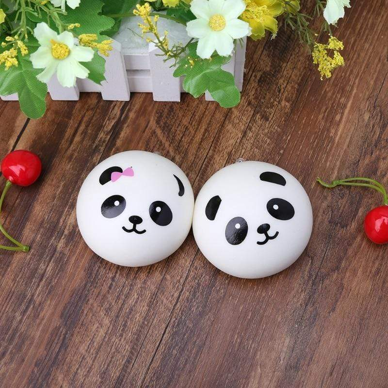Squishy Panda Bun Stress Reliever Ball Slow Rising Decompression Toy.