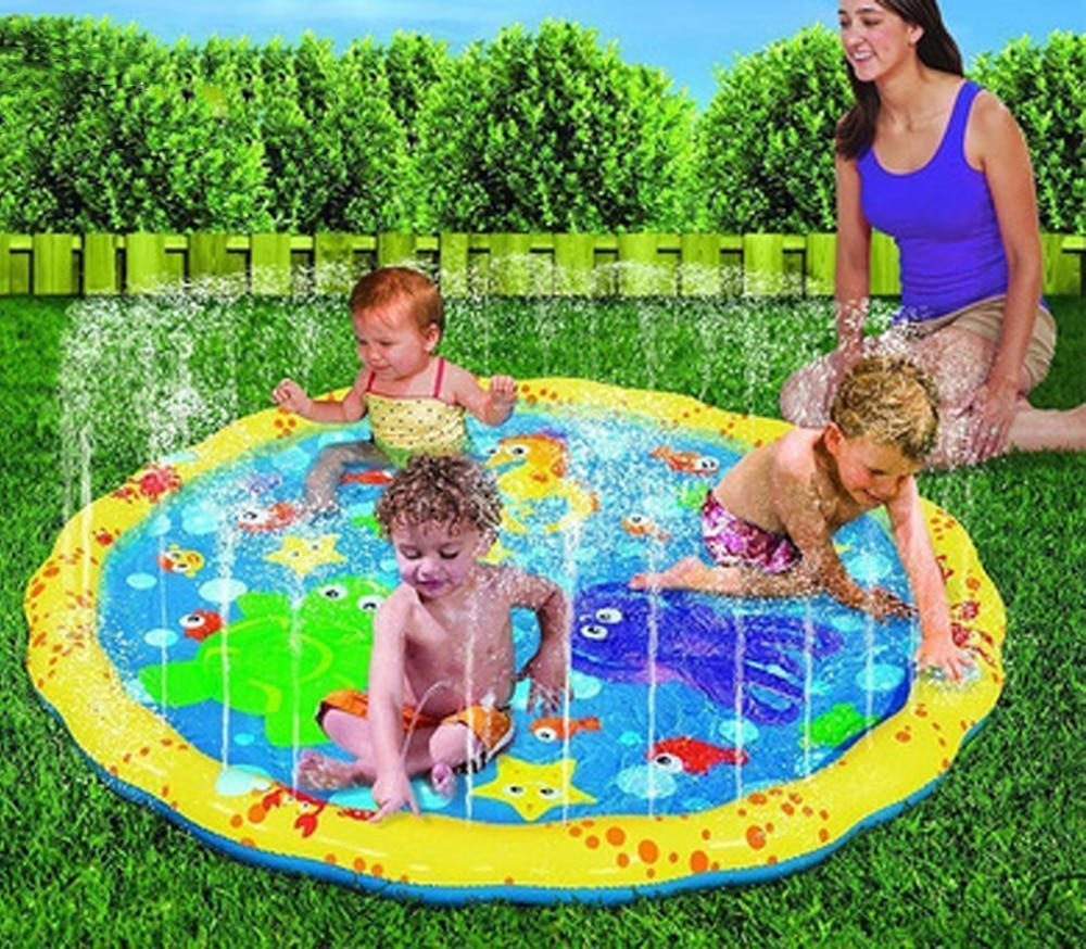 Swimming pool baby wading kiddie squirt fun pool outdoor squirt&splash water spray mat for Lawn Beach Play Game Sprinkler Seat