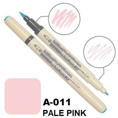 DELETER Neopiko 3 Pale Pink (A-011) Dual-tipped Water-based Fabric Marker