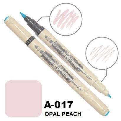 DELETER Neopiko 3 Opal Peach (A-017) Dual-tipped Water-based Fabric Marker