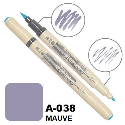 DELETER Neopiko 3 Mauve (A-038) Dual-tipped Water-based Fabric Marker