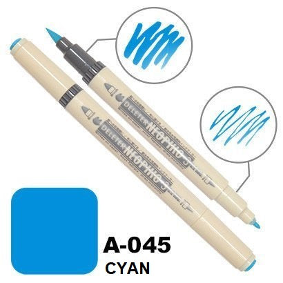 DELETER Neopiko 3 Cyan (A-045) Dual-tipped Water-based Fabric Marker