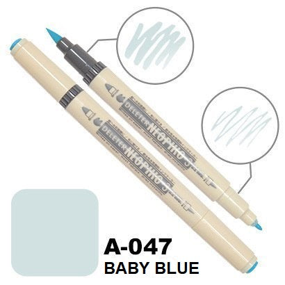 DELETER Neopiko 3 Baby Blue (A-047) Dual-tipped Water-based Fabric Marker