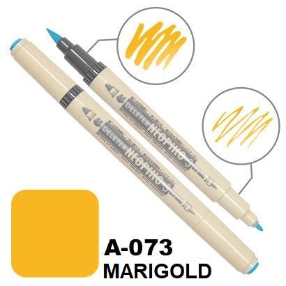 DELETER Neopiko 3 Marigold (A-073) Dual-tipped Water-based Fabric Marker