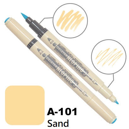 DELETER Neopiko 3 Sand (A-101) Dual-tipped Water-based Fabric Marker