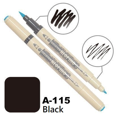 DELETER Neopiko 3 Black (A-115) Dual-tipped Water-based Fabric Marker