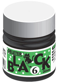 DELETER Black 6 Manga Ink - Fast Drying - 30ml Bottle
