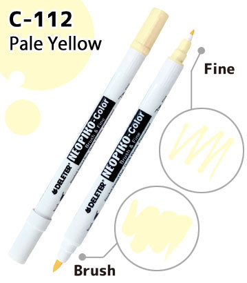 DELETER NEOPIKO-Color Pale Yellow (C-112) Alcohol-based Dual Tipped Marker