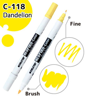 DELETER NEOPIKO-Color Dandelion (C-118) Alcohol-based Dual Tipped Marker