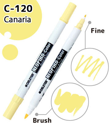 DELETER NEOPIKO-Color Canaria (C-120) Alcohol-based Dual Tipped Marker