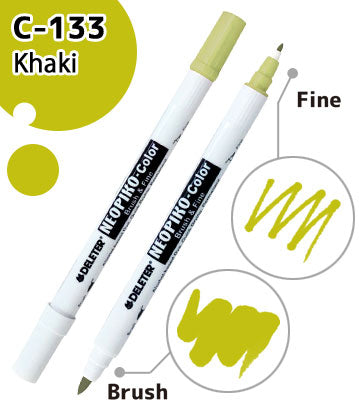 DELETER NEOPIKO-Color Khaki (C-133) Alcohol-based Dual Tipped Marker