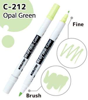 DELETER NEOPIKO-Color Opal Green (C-212) Alcohol-based Dual Tipped Marker
