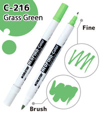 DELETER NEOPIKO-Color Grass Green (C-216) Alcohol-based Dual Tipped Marker