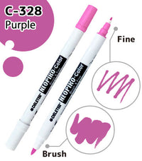 DELETER NEOPIKO-Color Purple (C-328) Alcohol-based Dual Tipped Marker