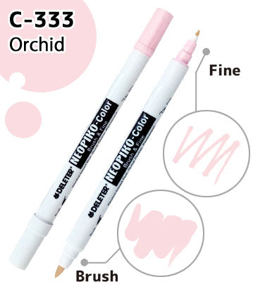 DELETER NEOPIKO-Color Orchid (C-333) Alcohol-based Dual Tipped Marker