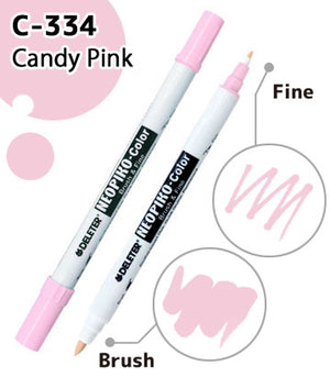 DELETER NEOPIKO-Color Candy Pink (C-334) Alcohol-based Dual Tipped Marker