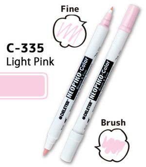 DELETER NEOPIKO-Color Light Pink (C-335) Alcohol-based Dual Tipped Marker