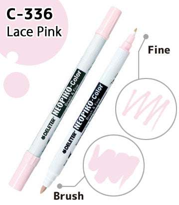 DELETER NEOPIKO-Color Lace Pink (C-336) Alcohol-based Dual Tipped Marker