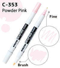DELETER NEOPIKO-Color Powder Pink (C-353) Alcohol-based Dual Tipped Marker