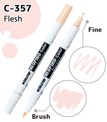 DELETER NEOPIKO-Color Flesh (C-357) Alcohol-based Dual Tipped Marker