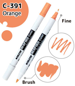 DELETER NEOPIKO-Color Orange (C-391) Alcohol-based Dual Tipped Marker
