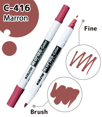 DELETER NEOPIKO-Color Marron (C-416) Alcohol-based Dual Tipped Marker