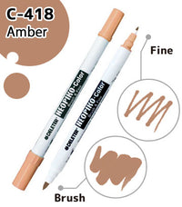 DELETER NEOPIKO-Color Amber (C-418) Alcohol-based Dual Tipped Marker